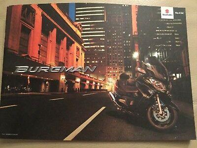 Suzuki Burgman motorbike brochure - October 2012