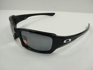 OAKLEY FIVES SQUARED POLARIZED SUNGLASSES OO9238-06 BLACK/BLACK IRIDIUM LENS NEW