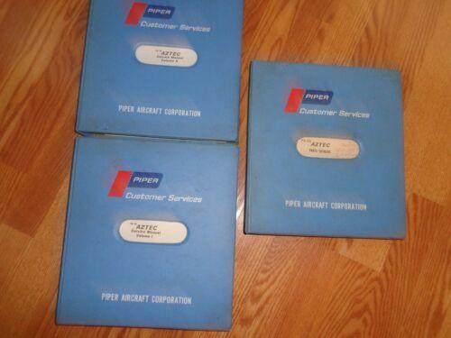 PIPER AZTEC AIRCRAFT Original Service & Parts Manuals