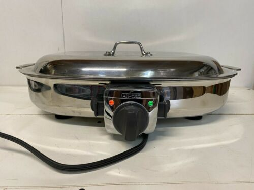 All-Clad Deluxe 6 Quart Electric Skillet Cooker #6701 Stainless Steel