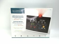 La Crosse Technology WiFi Projection Alarm Clock with AccuWeather Forecast