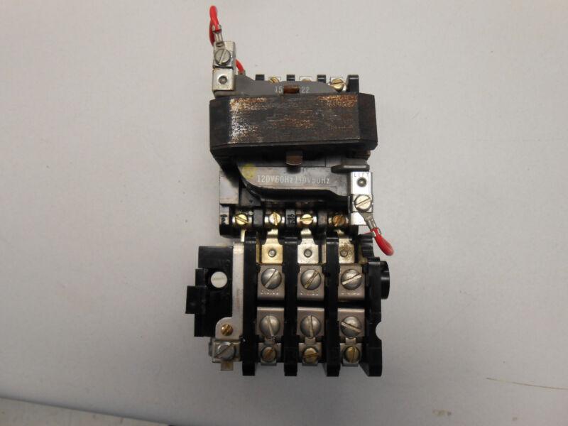 GENERAL ELECTRIC 120 VOLT COIL MOTOR STARTER