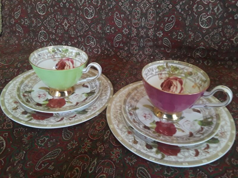Tea Lunch Set English Rose Fine Bone China Cortina Collection