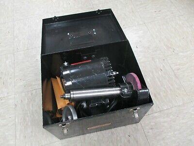 Used Dumore Series 57 Lathe Toolpost Grinder Set In Metal Case Dp