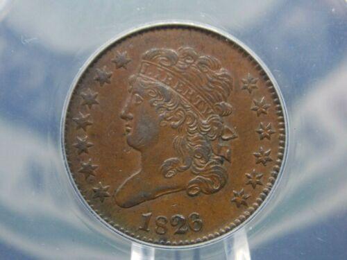 1826 Classic Head Half Cent 1/2c ANACS AU50 East Coast Coin & Collectables, Inc.