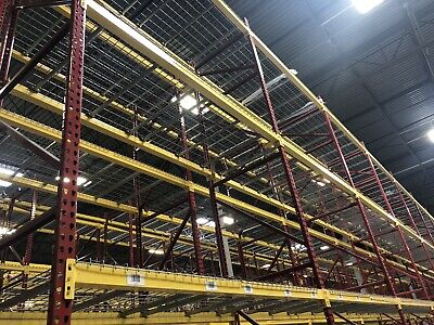 1 Section Teardrop Pallet Rack 20x42 96 Beam With Wire Deck