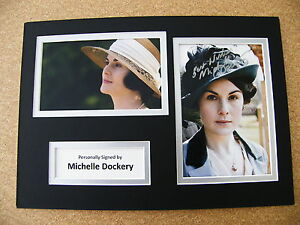 MICHELLE-DOCKERY-HAND-SIGNED-AUTOGRAPH-A4-PHOTO-DISPLAY-COA-DOWNTON-ABBEY
