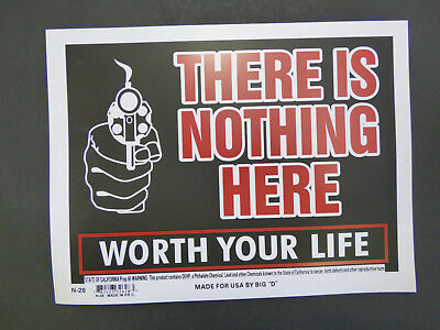 - Nothing here is worth your life SIGN Home Office Man Cave 9