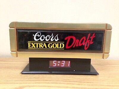 Colors Extra Gold Draft Cash Register Sign Clock