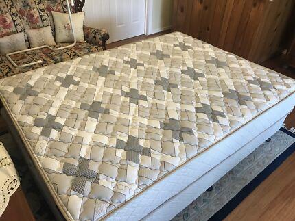 Queen mattress and base