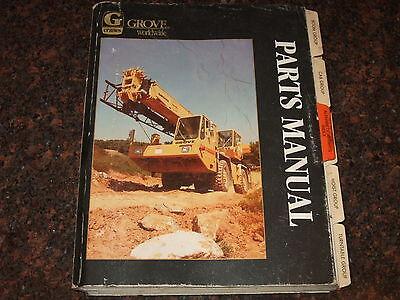 Grove Rt-735 Rt735 Rough Terrain Crane Parts Book Manual