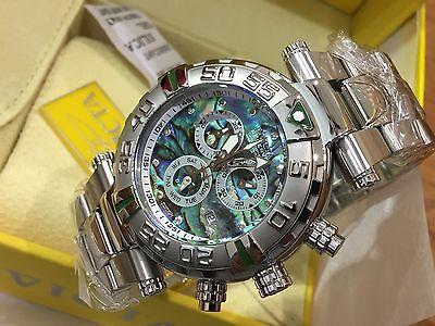 23339 Invicta Reserve 47mm Subaqua Noma I Swiss Chro Abalone Dial Bracelet Watch