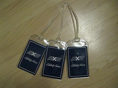 Celebrity Cruises Luggage Tags   Vintage Playing Card Ship Blue Name Tag  3