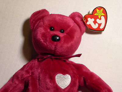 "TY Beanie Baby VALENTINA Bear Valentine Heart Teddy (1998) 8"" w/All Tags  for sale  Chapel Hill"