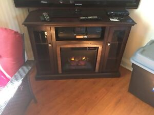 Tv and fire place stand