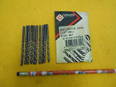 Black Oxide Round Shank Short Flute Cleveland 3780 Cobalt Steel Jobbers Length Drill Bit 135 Degree Split Point Wire Size #1 Pack of 10