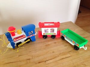 Vintage Fisher Price Little People Train