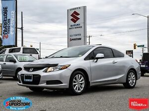 2012 Honda Civic Coupe EX-L ~Nav ~Power Moonroof ~Heated Leather