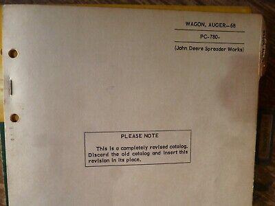 John Deere 68 Auger Wagon Parts Catalog Manual Book Original Pc-780