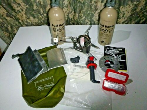 NEW MSR Military USMC XGK Small Unit Expeditionary Multi-Fuel Stove Set Kit