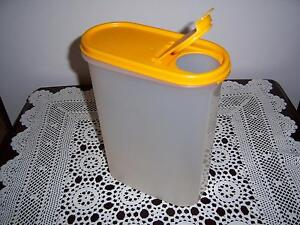 Retro Vintage Tupperware Modular Mates Container Oval #4 Yellow 2 Cannington Canning Area Preview