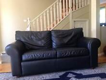 Moran Black Leather 2.5 seater lounge Baulkham Hills The Hills District Preview
