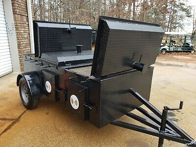 Chicken Flipper W Dome Lids Cooker Grill Bbq Smoker Trailer Food Truck Business