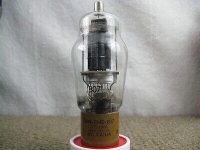 1 NOS Sylvnia JAN 807 Vacuum Tube - Black Plates - Shelf Getters Tested in PICs