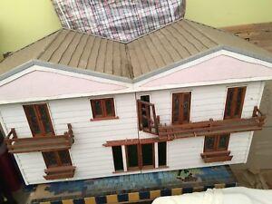 Handmade wooden dolls house