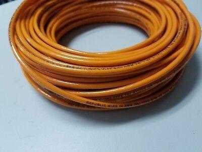 25 Thhn Thwn 10 Awg Gauge Orange Nylon Stranded Copper Building Wire