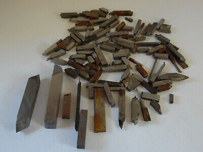 Lot Of Assorted Machinist Tool Bits Lathe Cutting Hss