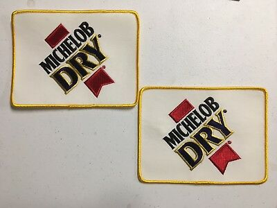 "Lot Of 2 Michelob Dry Anheuser-Busch  Logo Beer Patches Budweiser Bud 5"" X 7"""