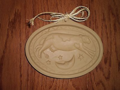 BROWN BAG COOKIE ART COW JUMPED OVER THE MOON CERAMIC COOKIE MOLD