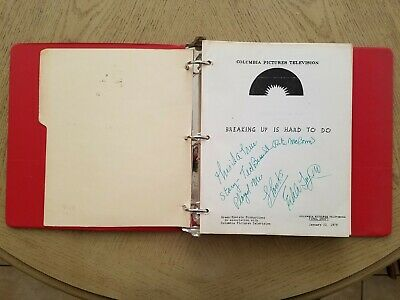 SIGNED 1979 Breaking Up Is Hard To Do Columbia TV Movie Script Story EDDIE FOY 3