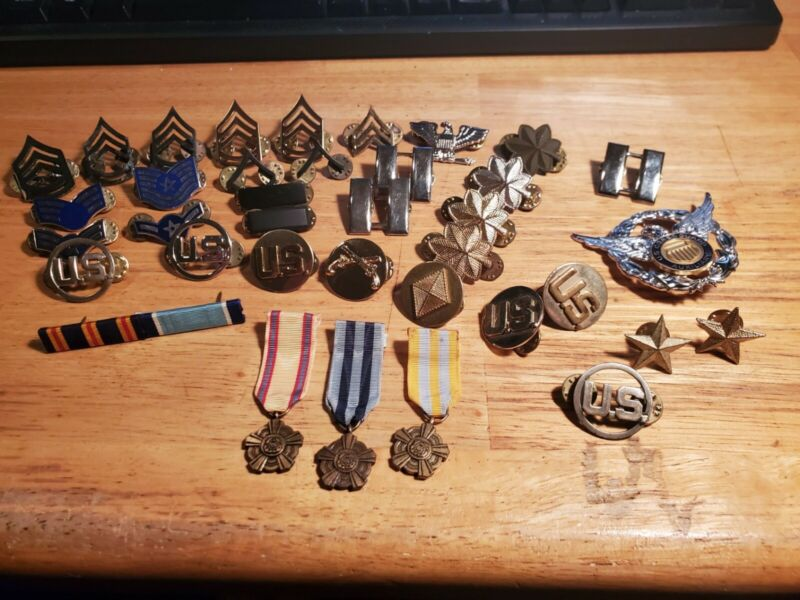 Us Military lot of Army, Marine, Air Force: Rank, BOS