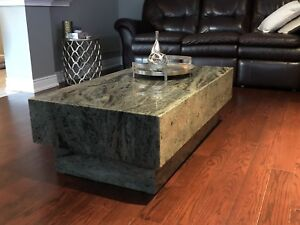 Granite coffee and table and 3 columns