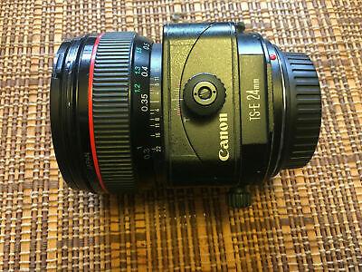 Canon TS-E 24mm f3.5 L Tilt Shift Wide Angle Lens, Pouch, Hood - Ships Free!