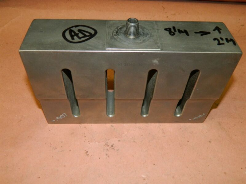 Branson Dukane 93-25341-12 Rectangular Slotted Ultrasonic Welder Horn 1/2 LOT AD