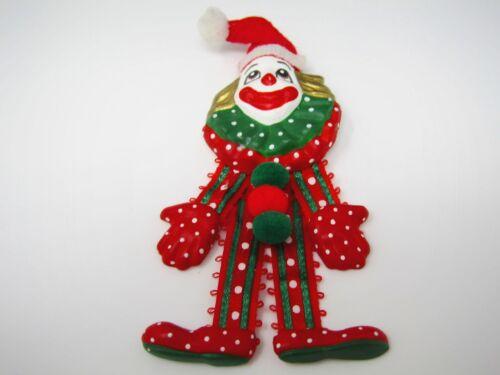 Vintage Christmas Pin: Clown Design