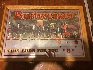 Budwiser vintage mirror