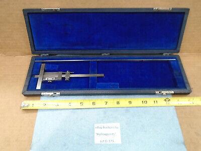 D179 Brown Sharpe No. 600 Vintage Vernier Depth Gauge Set 0 - 9-12 2 Blades
