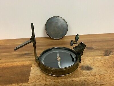 Vintage Kilpatrick & Co Melbourne Brass Prismatic Compass A302 Made In England
