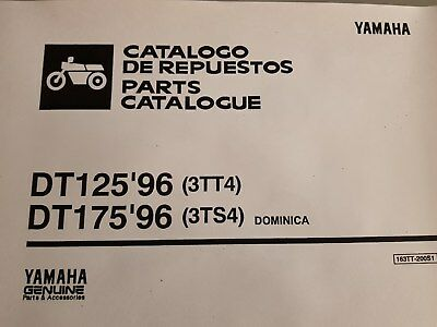 YAMAHA DT 175 PART MANUAL CATALOGUE workshop 1996 3TS4