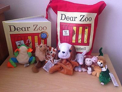 Dear Zoo Story Sack - Complete With Book & Full Set of Animal Finger Puppets