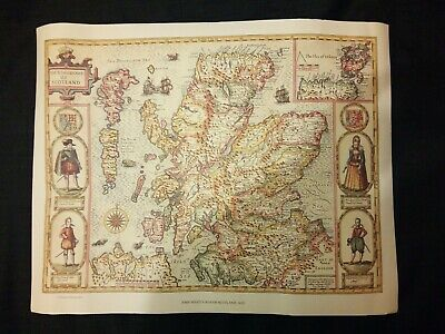 SCOTLAND 1610 by John Speed - reproduction old map