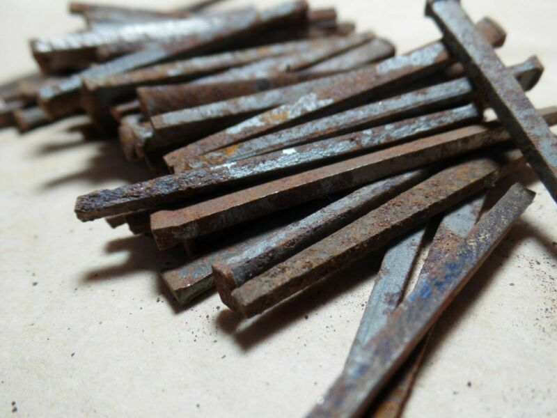 """Antique Square Nail 2"""" Lot of 70"""