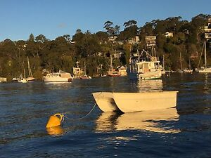 TWIN HULL CAT FIBREGLASS DINGHY TENDER VERY STABLE Sydney City Inner Sydney Preview