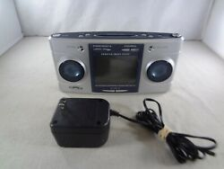 Sharper Image SI564 Big Screen Clock Radio Sound Therapy Soother - Tested/Works