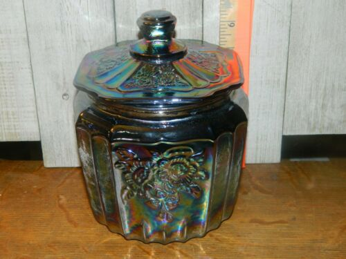 Canister Jar Container Storage Black Carnival Multi-Colored  Cookie Biscuit