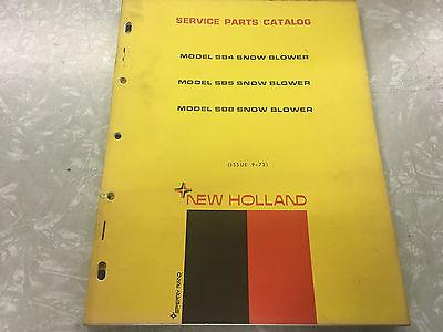 New Holland Sb4 Sb5 Sb8 Snow Blower Service Parts Catalog Book